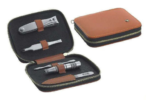 Dovo 5-Piece Manicure Set in Calf Leather