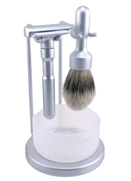 Merkur FUTUR 4-Piece Razor Kit - Satin Finish