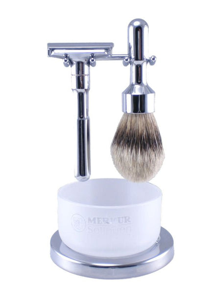Merkur FUTUR 4-Piece Razor Kit - Polished Chrome Finish