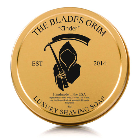 The Blades Grim Luxury Shave Soap - Cinder