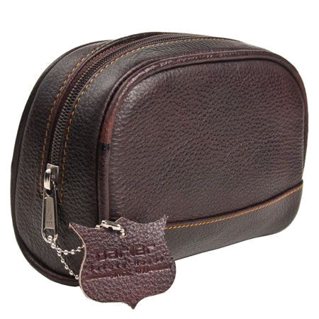 Deluxe Leather Shaving Bag - Small