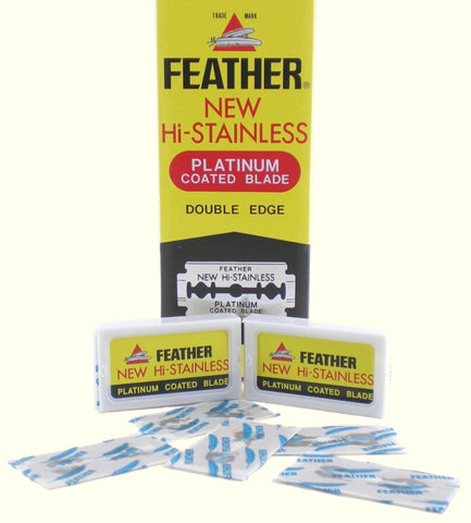 Feather Hi-Stainless Double Edge Razor Blades - Case of Twenty Packs of 10