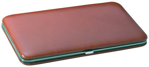 Hard-Sided Leather Case for Two Razors