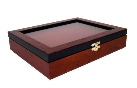 Elm Burl Wood Display Box for Seven Razors
