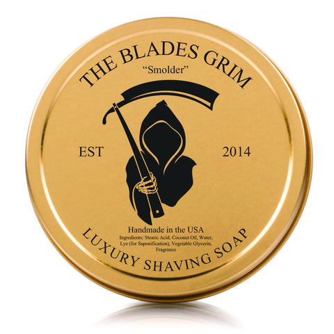 The Blades Grim Luxury Shave Soap - Smolder