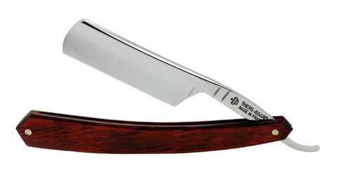 "Thiers-Issard 6/8"" Carbon Steel Straight Razor - Red Stamina - Round Point - Professionally Honed"