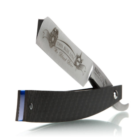Thin Blue Line - 6/8 Straight Razor By Hart Steel
