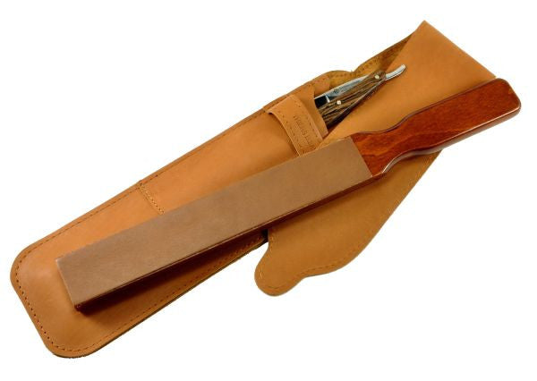 Thiers-Issard Travel Strop in Leather Case - Brown