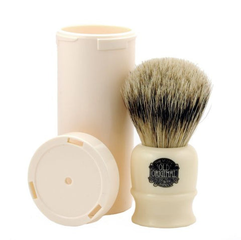Vulfix No. 2273 Super Badger Travel Brush  - Faux Ivory