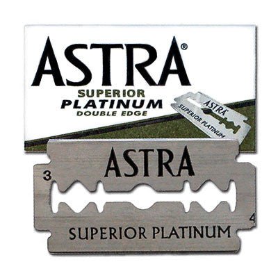 Astra Superior Platinum Double Edge Razor Blades - 5 Pack
