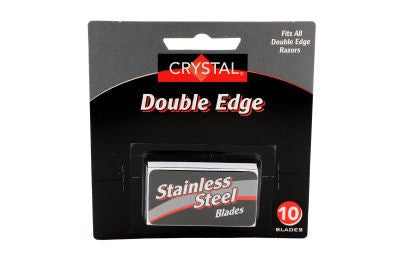Crystal Platinum Chrome Double Edge Razor Blades - 10 Pack