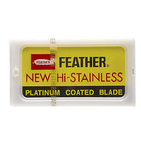 Feather Hi-Stainless Double Edge Razor Blades - 10 Pack