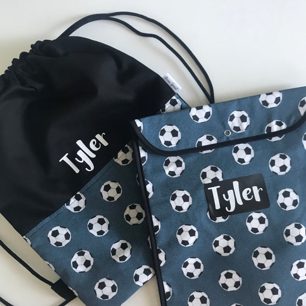 Book/Swim Bag Combo - Soccer Balls