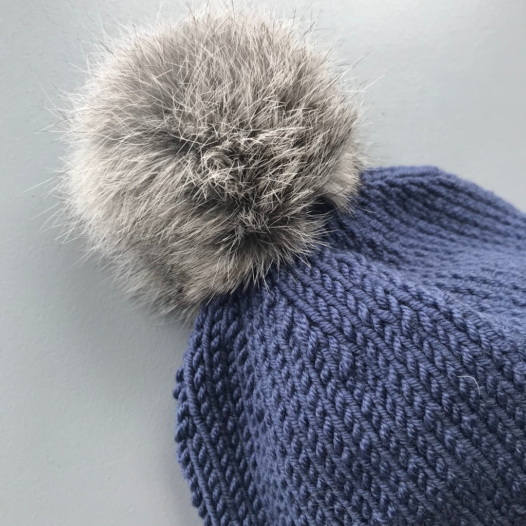 Merino Aviator Hat - Denim