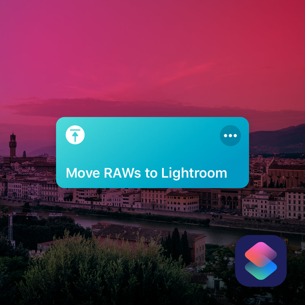 Move RAWs to Lightroom iOS Shortcut