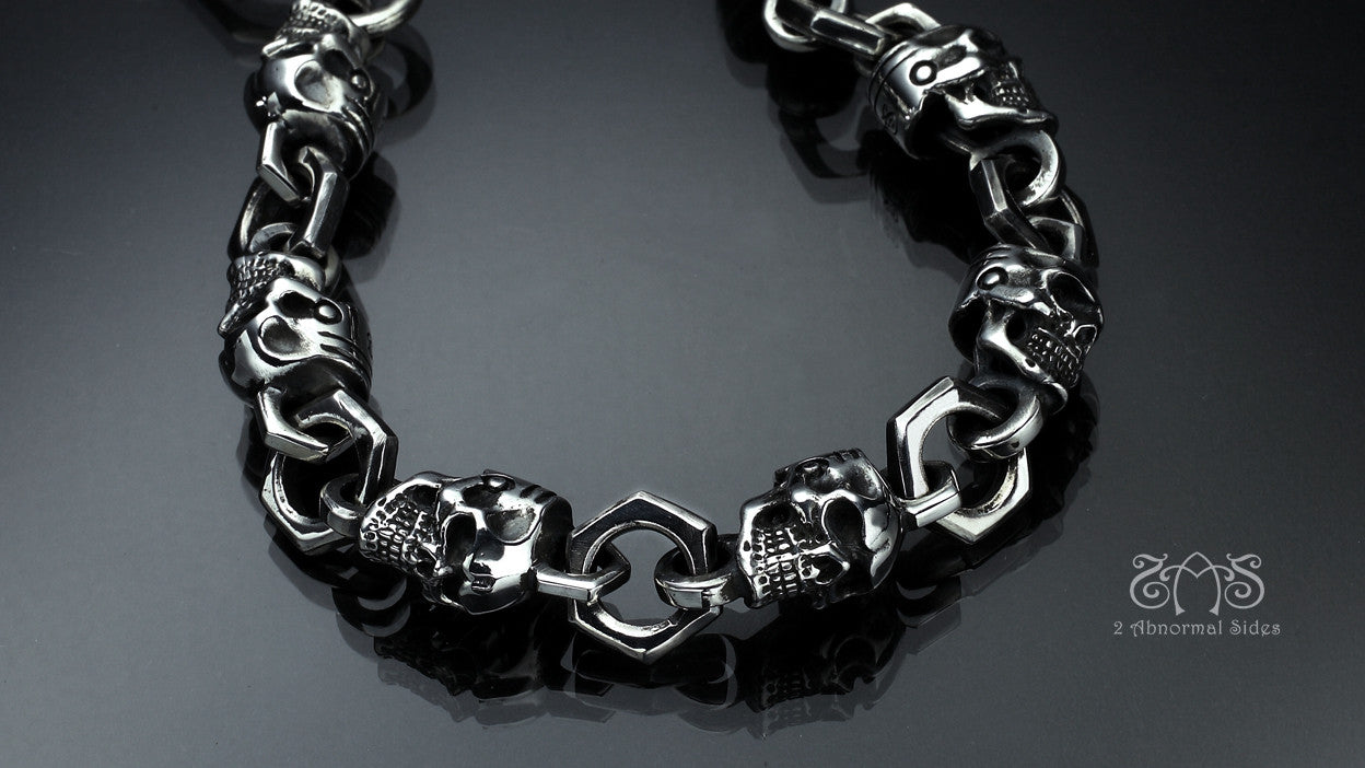 Skull L Type Bracelet | Let's Ride Collection