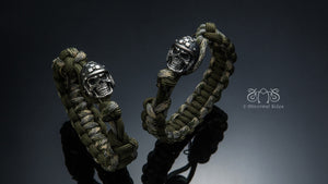 Helmet Skull Survival Bracelet | Let's Ride Collection