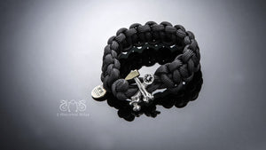 Hammer Cross Bones Paracord Survival Bracelet | Let's Ride Collection
