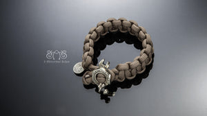 Nut Wrench Paracord Survival Bracelet(Brass) | Let's Ride Collection