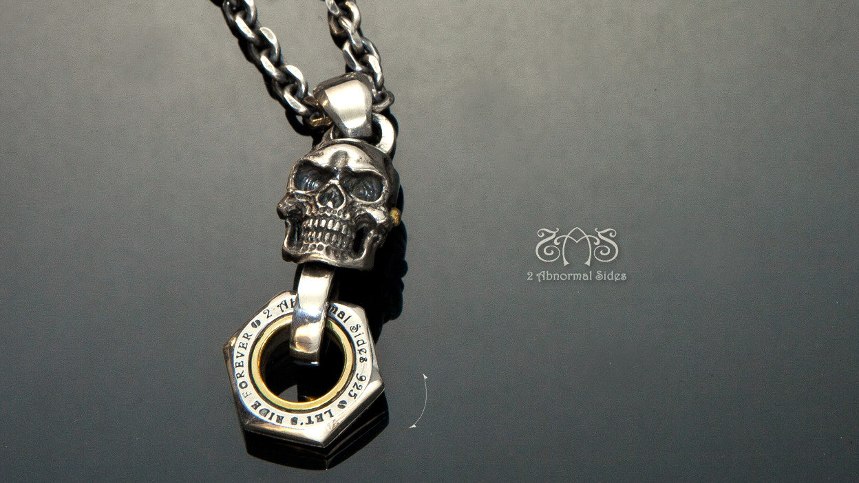 Movable Piston Skull Necklace | Let's Ride Collection