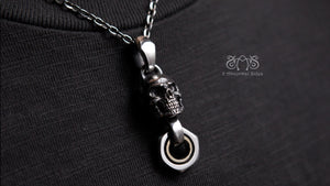 Movable Piston Skull Necklace S Type | Let's Ride Collection