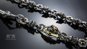 1%er Piston skull Detachable Wallet Chain  |  Let's Ride Collection