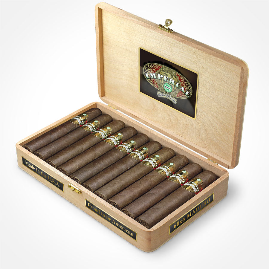 IMPERIAL USA MADURO 60x6 - WOODEN BOX x20