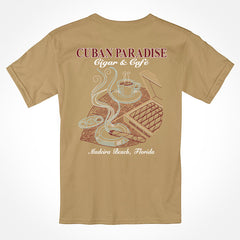 T-shirt Aficionado. Tan