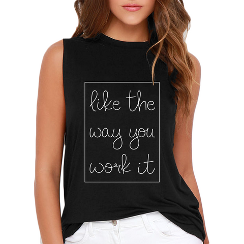 Like The Way You Work It Boyfriend Tank - Mint Theory | Athleisure Wear - Stylish Women's Workout Clothes  - 2