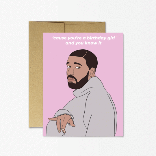 Party Mountain Paper co. - Drake Birthday Girl Card