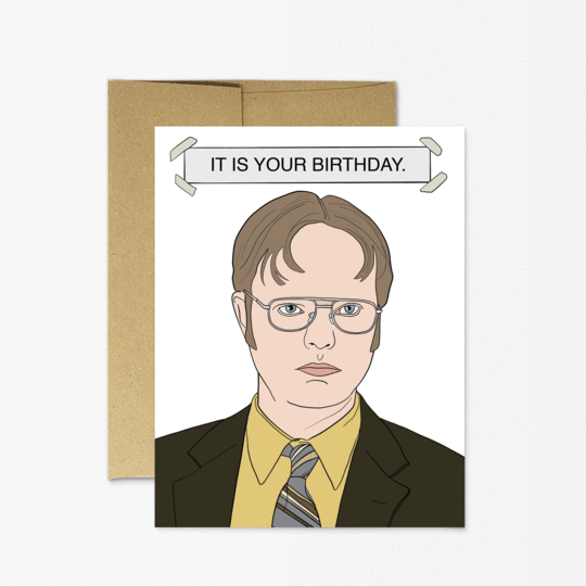Party Mountain Paper co. - Dwight Birthday Card