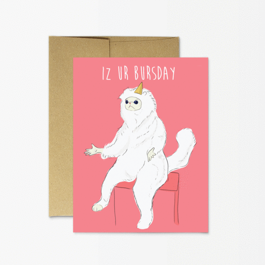 Party Mountain Paper co. - Persian Cat Meme Birthday