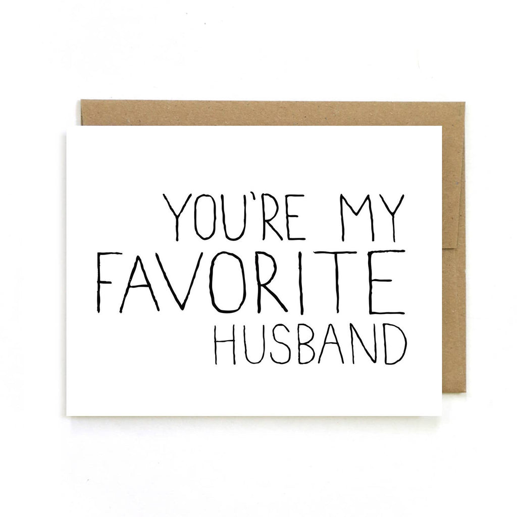 Unblushing - Valentine's Day Card - Favorite Husband