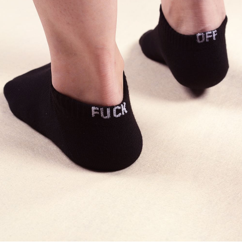 FUCK OFF SOCKS (Black)