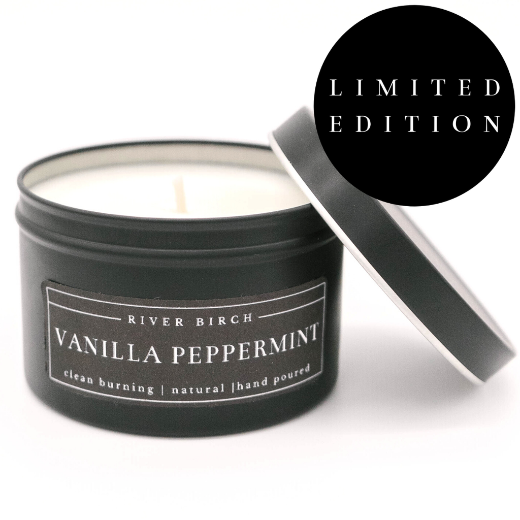 8oz VANILLA PEPPERMINT CANDLE