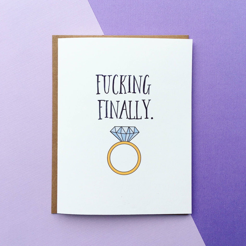 Top Hat and Monocle - Finally Wedding Card