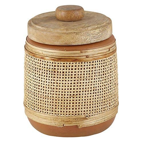 Creative Brands - Terracotta Jar With Wood Lid