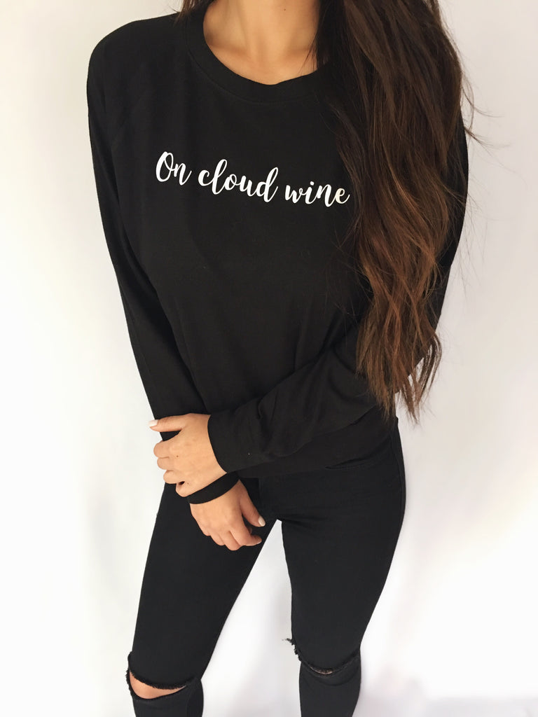 ON CLOUD WINE CREWNECK (Black)