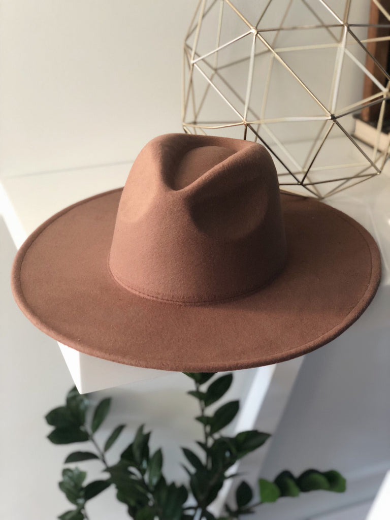 ROCCO WIDE BRIM HAT (Brown)