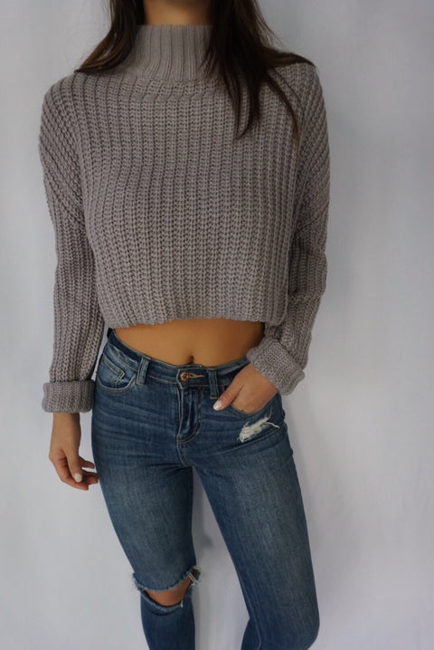 SCOTTSDALE HIGH NECK SWEATER (Grey)