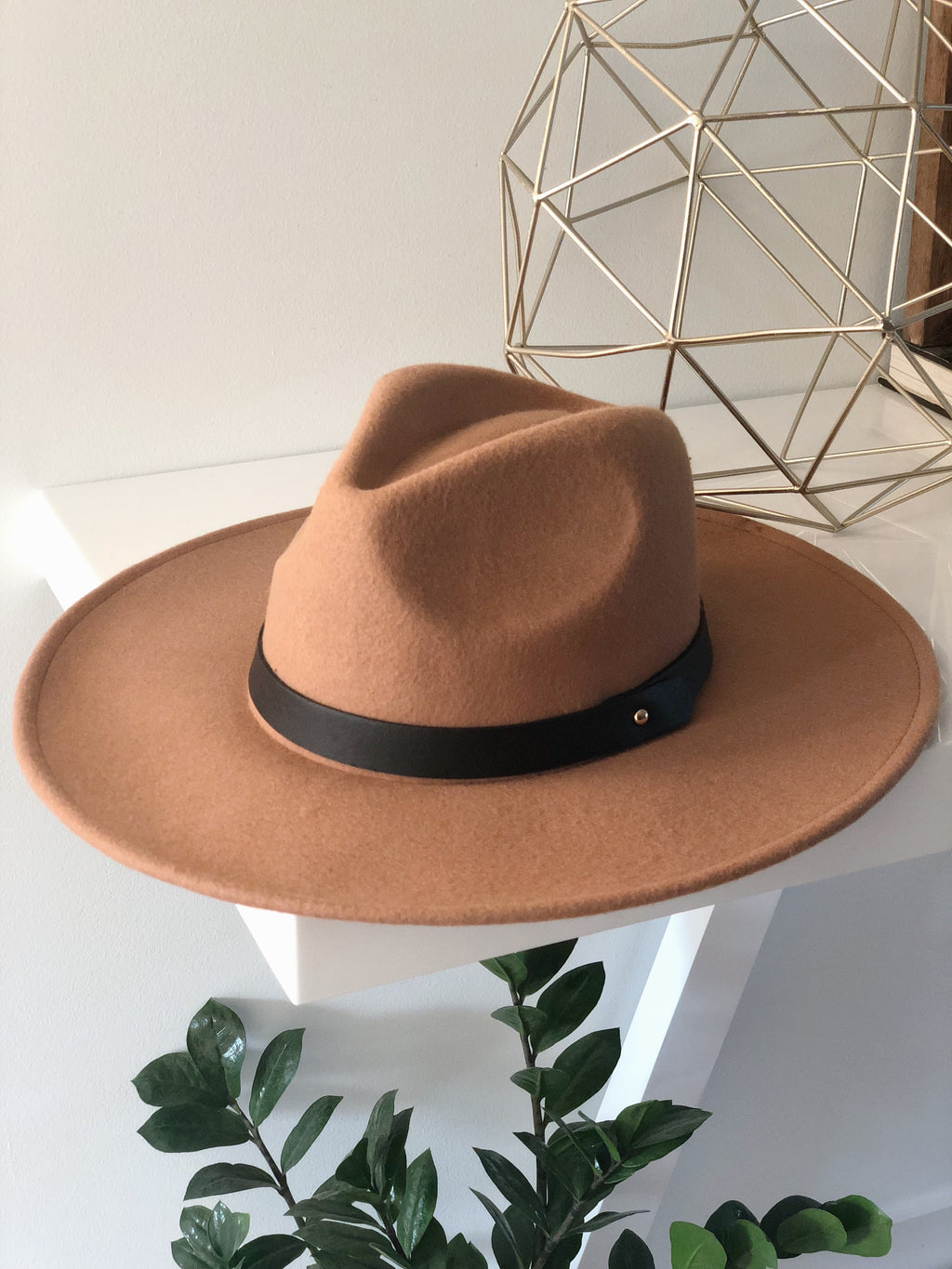 MADDOX WIDE BRIM HAT (Brown)