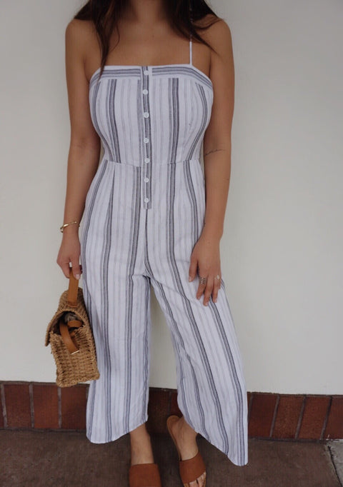 MUSE STRIPE JUMPSUIT
