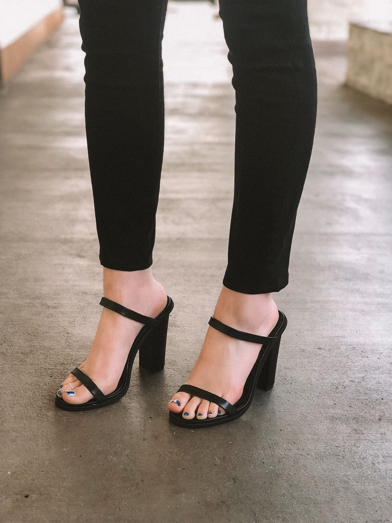 PEYTON DOUBLE STRAP MINI HEEL (Leather)