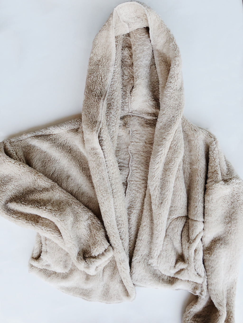 TEDDY HOODIE FAUX FUR JACKET (Cream)