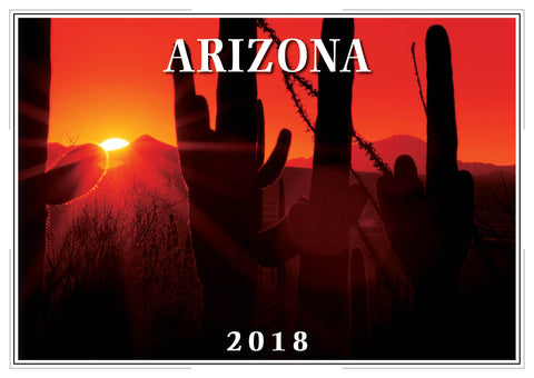 2018 Arizona Wall Calendar
