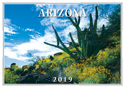 2019 Arizona Wall Calendar