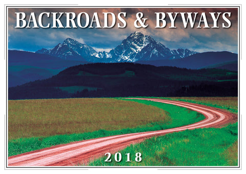 2018 Backroads & Byways Wall Calendar