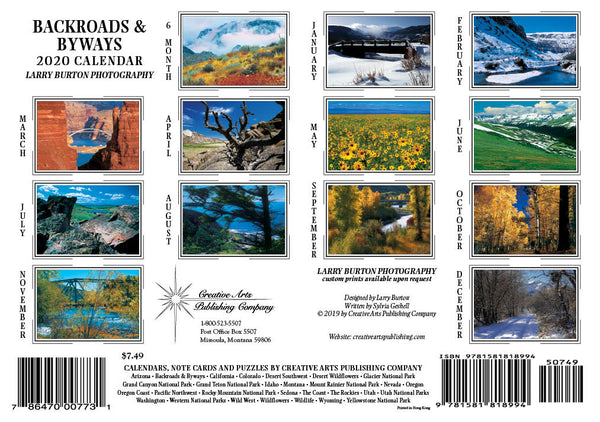 2020 Backroads & Byways Pocket Calendar