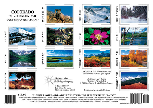 2020 Colorado Wall Calendar