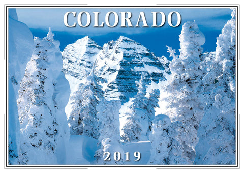 2019 Colorado Wall Calendar